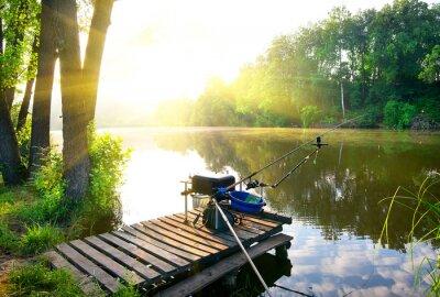 Sticker Fishing on river