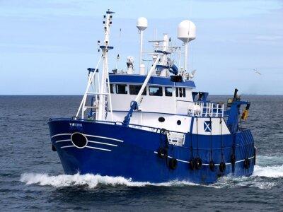Sticker Fishing Vessel 15b, Fishing Vessel underway to harbour to land fish.
