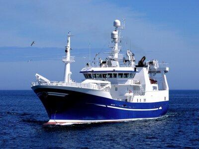 Sticker Fishing Vessel P1, Fishing Vessel underway to harbour to land fish.
