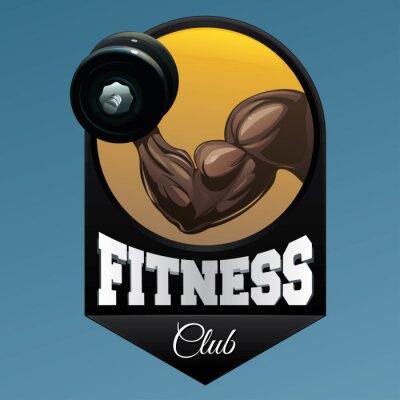 Sticker Fitness club emblem illustration