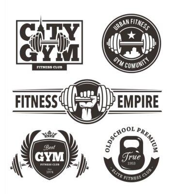 Sticker Fitness Emblems Set