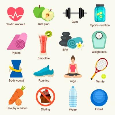 Sticker Fitness icon set