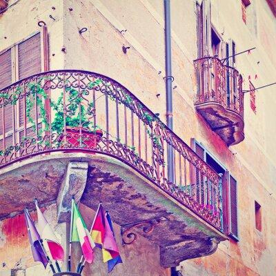 Sticker Flags under Balcony