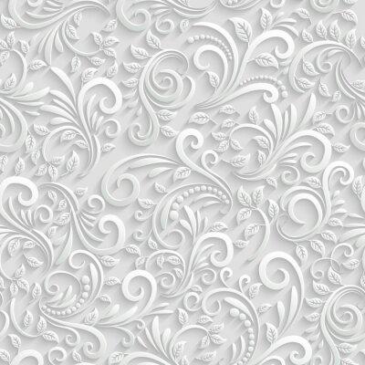 Sticker Floral 3d Seamless Background