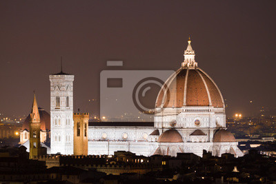 florence night view, cathedral of florence
