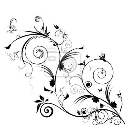 flowers scrolls