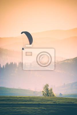 Flying in a warm light. Instagram stylisation