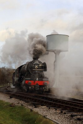 Sticker Flying Scotsman with Steam and Smoke.