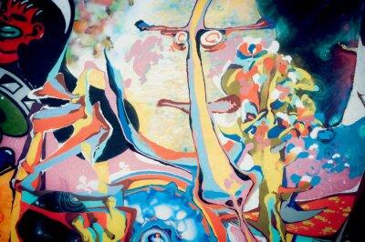 Sticker Fond peinture abstraite