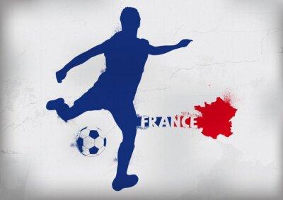 Sticker Foot France Graffiti