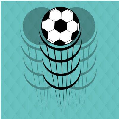 Sticker football soccer design