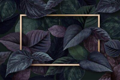 Sticker Forest leaf frame