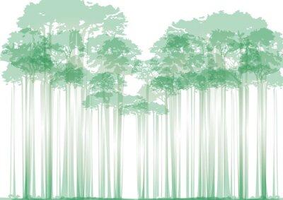 Sticker forest on neutral background