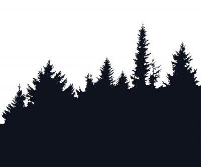 Sticker Forest silhouette