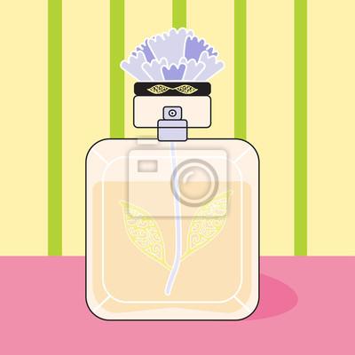 Sticker fragrance perfume bottle gold flower