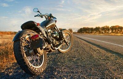 Sticker Freedom.Motorbike under sky