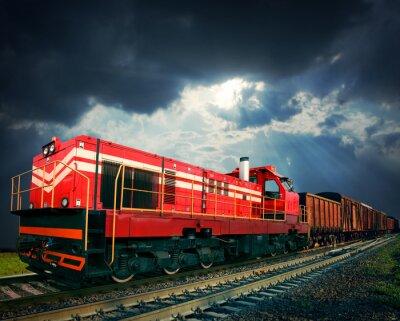 Sticker freight train
