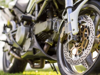 Sticker Front wheel details of a motorcycle