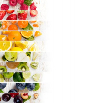 Sticker Fruit Mix Stripes