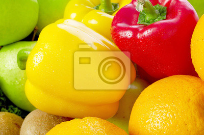 Sticker Fruits and vegetables close-up
