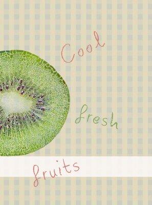 Sticker Fruits theme background
