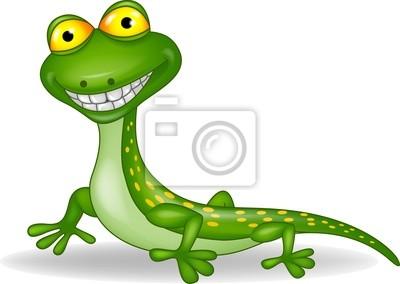 Sticker Funny lizard cartoon