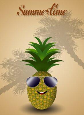 Sticker Funny pineapple for summertime