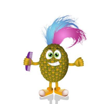 Sticker Funny punk pineapple