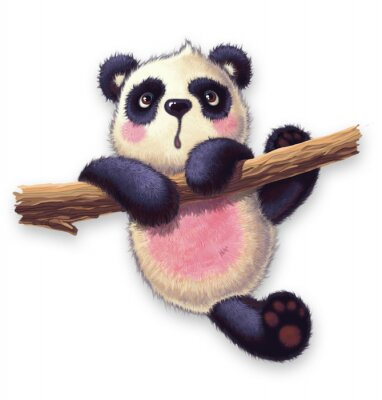 Sticker furry panda