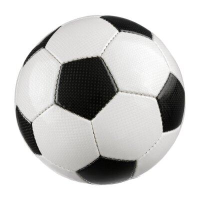 Sticker Fußball auf reinem Weiß