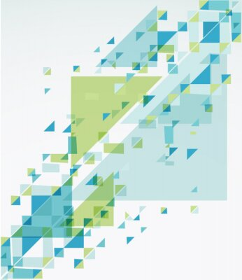 Sticker Geometric Abstract Background. Vector