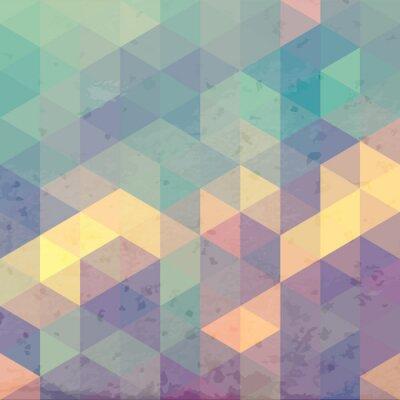 Sticker Geometric background with grunge texture. Retro wallpaper