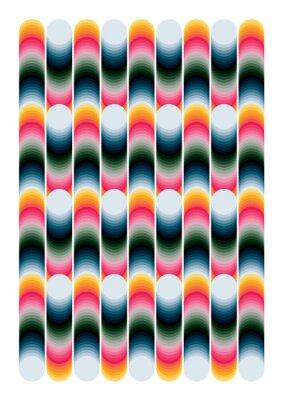 Sticker geometric colorful pattern