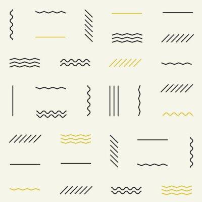 Sticker Geometric lines seamless pattern.