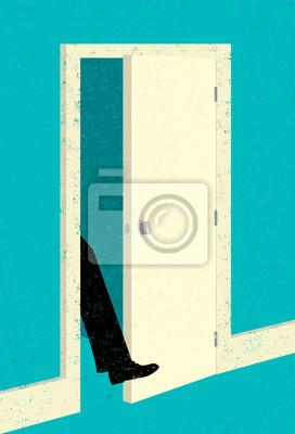 Sticker Getting your foot in the door