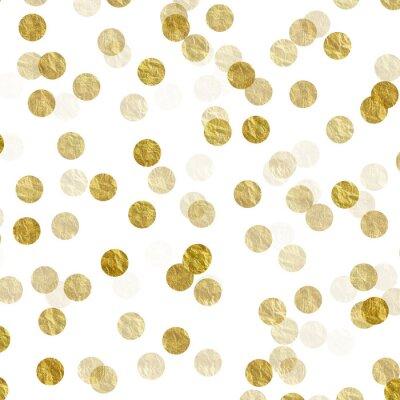 Sticker Gold Dots Faux Foil Metallic Background Pattern Texture