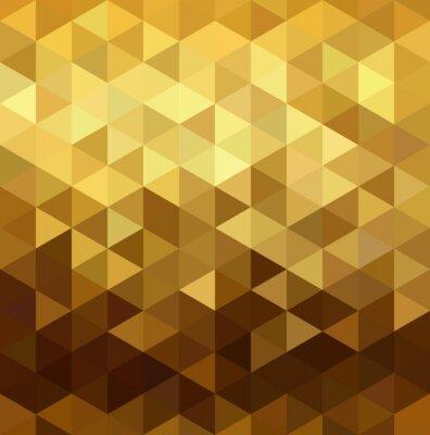 Sticker Gold pattern low poly triangle geometry fancy