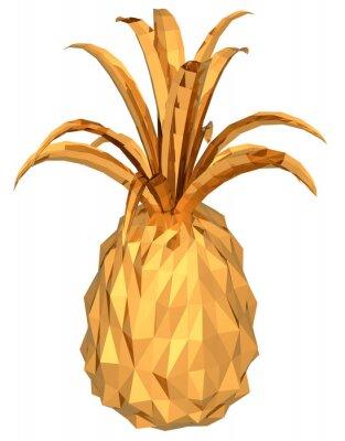 Sticker gold pineapple