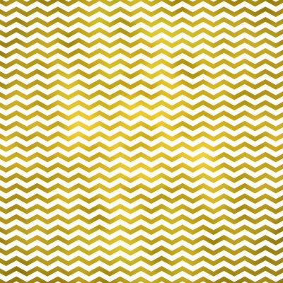 Sticker Gold White Metallic Faux Foil Chevron Pattern Chevrons Texture Z