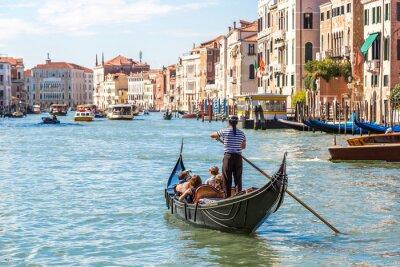 Sticker Gondola on Canal Grande in Venice