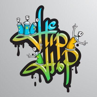 Sticker Graffiti word characters print