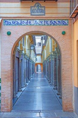 Sticker Granada - The Alcaiceria market in morning