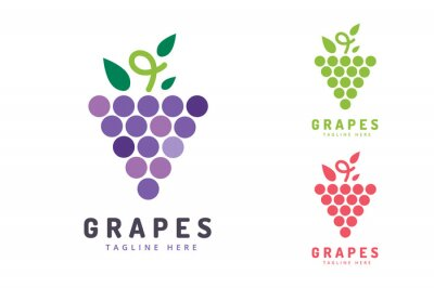 Sticker Grapes isolated logo icon