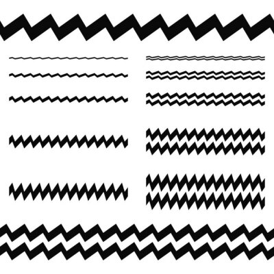 Sticker Graphic design elements - asymmetrical line set