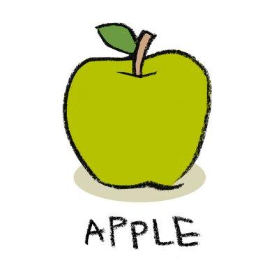 Sticker Green apple