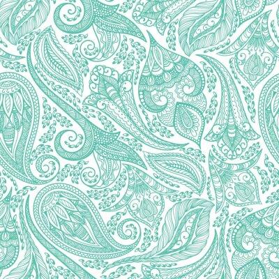 Sticker Green Cashmere Seamless Pattern