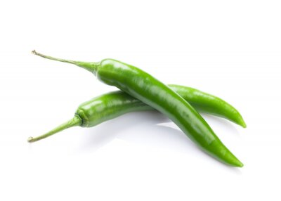 Sticker Green chili peppers