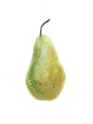 Sticker green pear