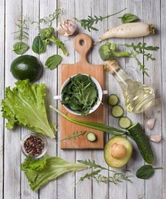 Sticker green vegetables
