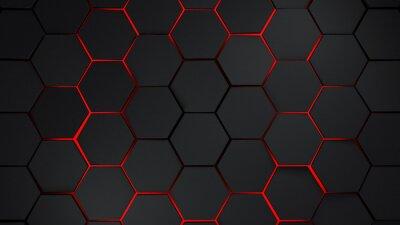 Sticker grey and red hexagons modern background illustration